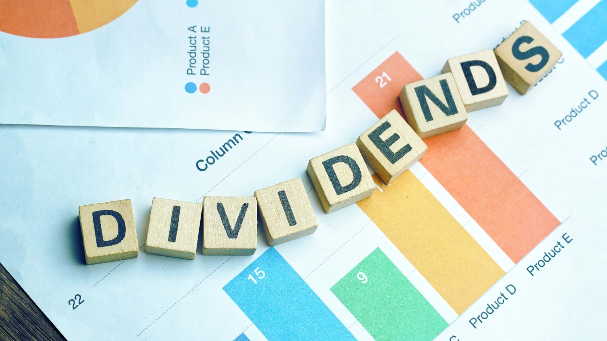 blockletters spelling dividends bank yield