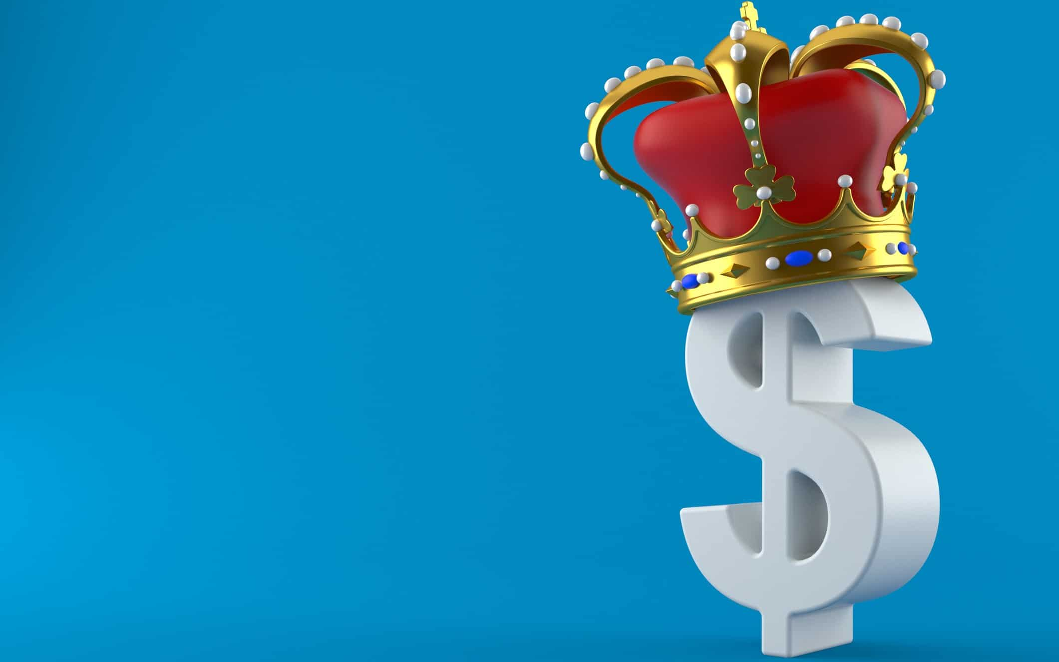 Dollar sign with crown