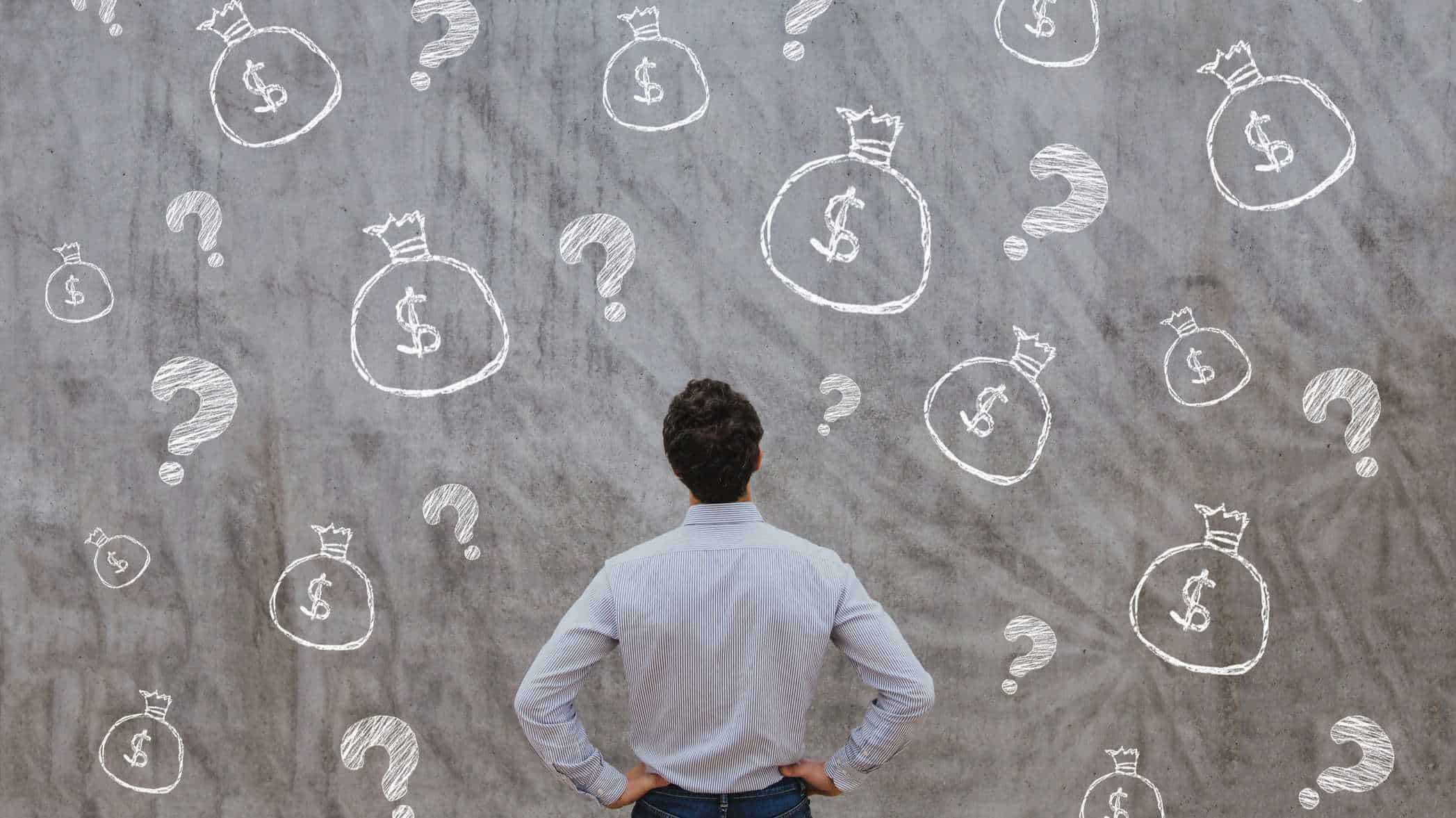 Man asking financial questions