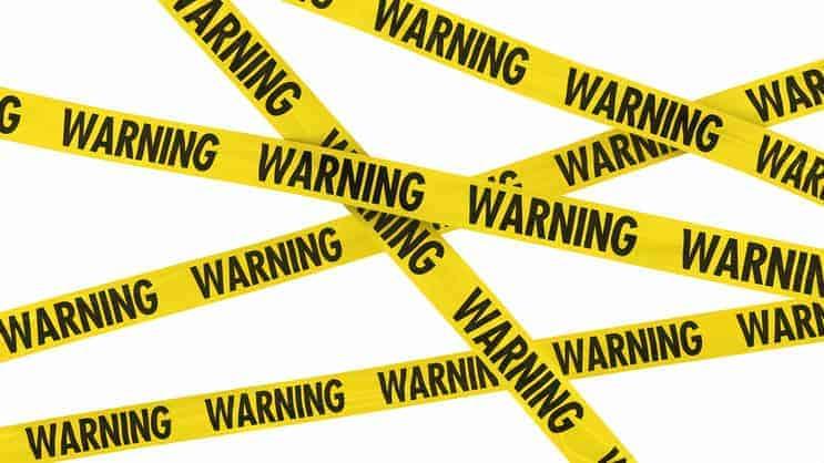 Personal finance warning