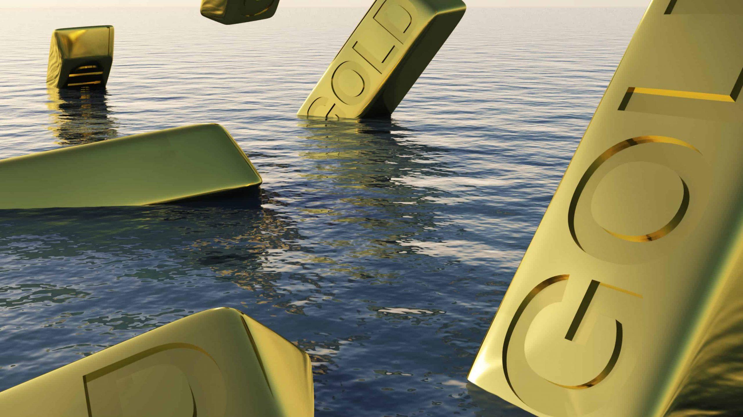 Gold Bullion Sinking 16.9