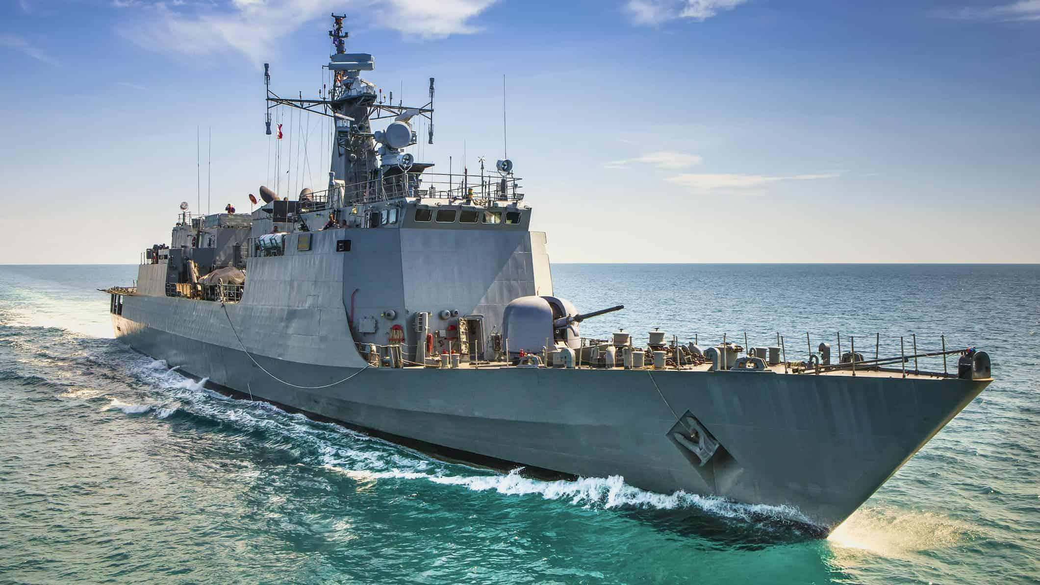 Naval war ship