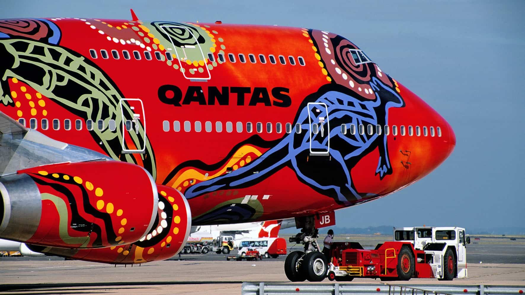 nose of Qantas plane WUNALA