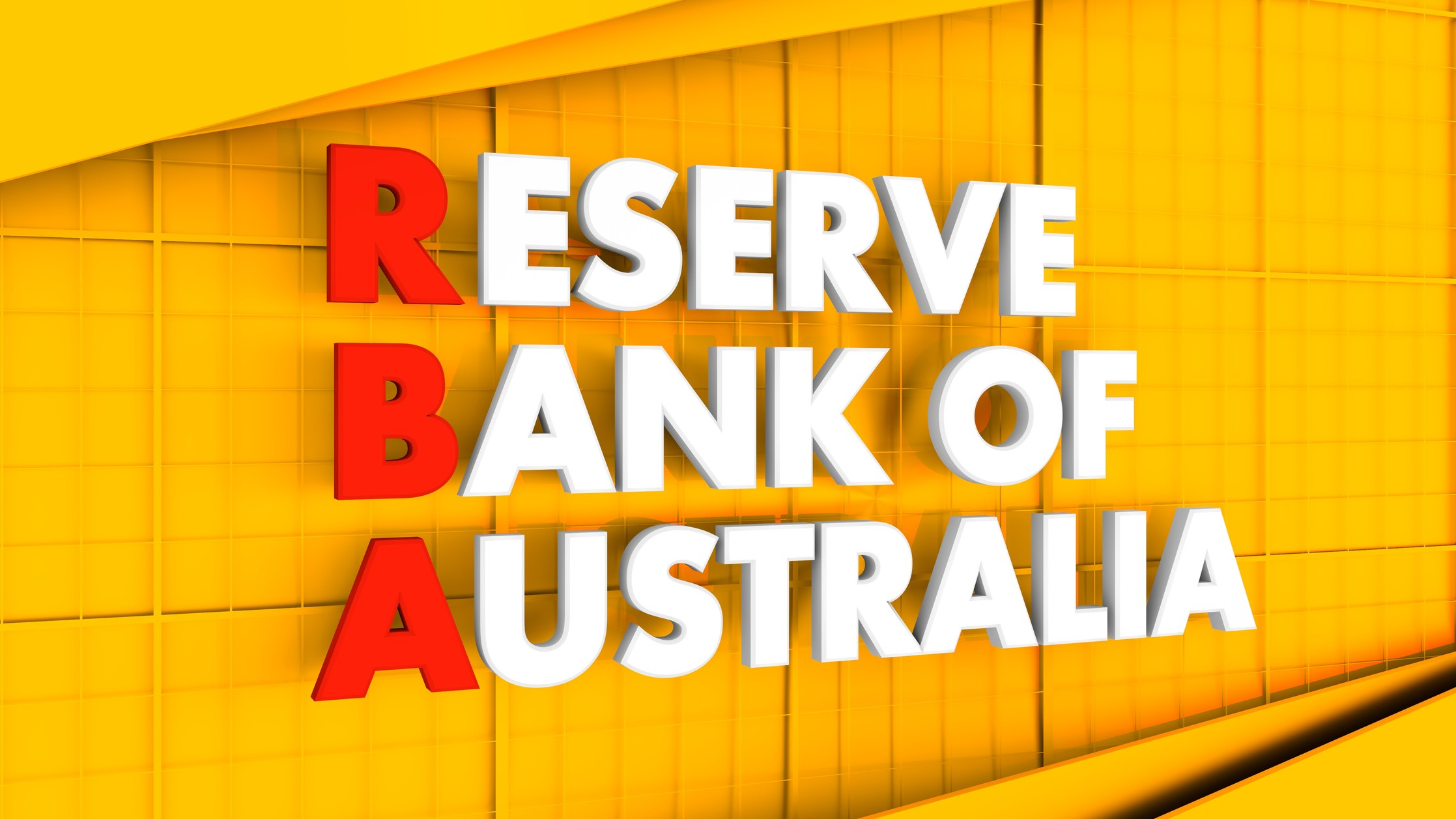 RBA influence on asx shares represented by yellow wall with reserve bank of australia sign on it