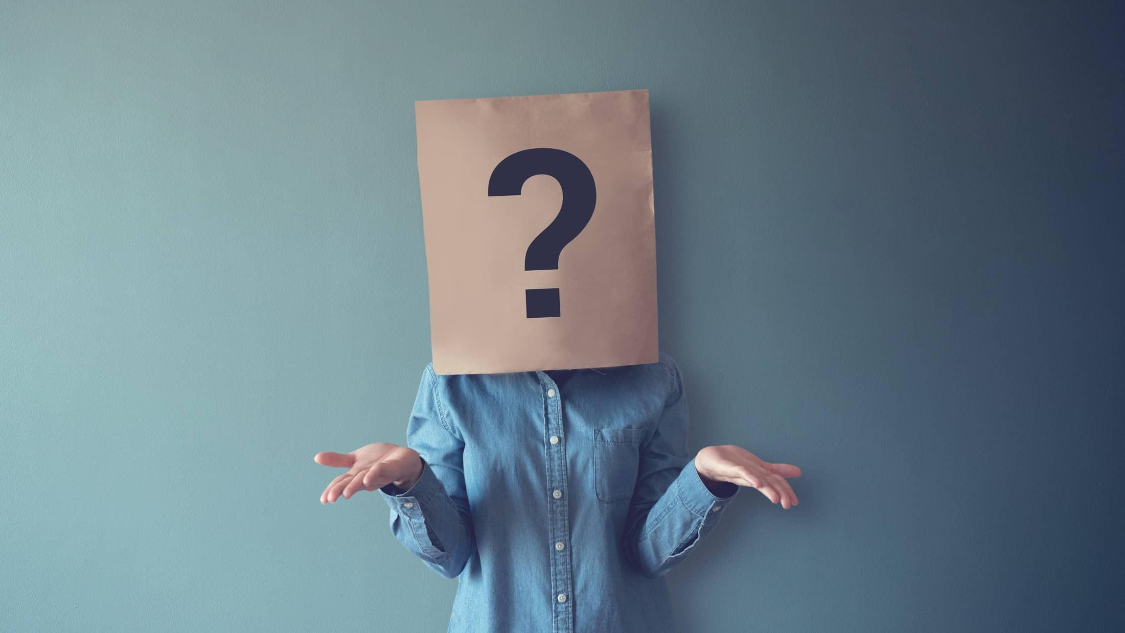 question mark, unsure