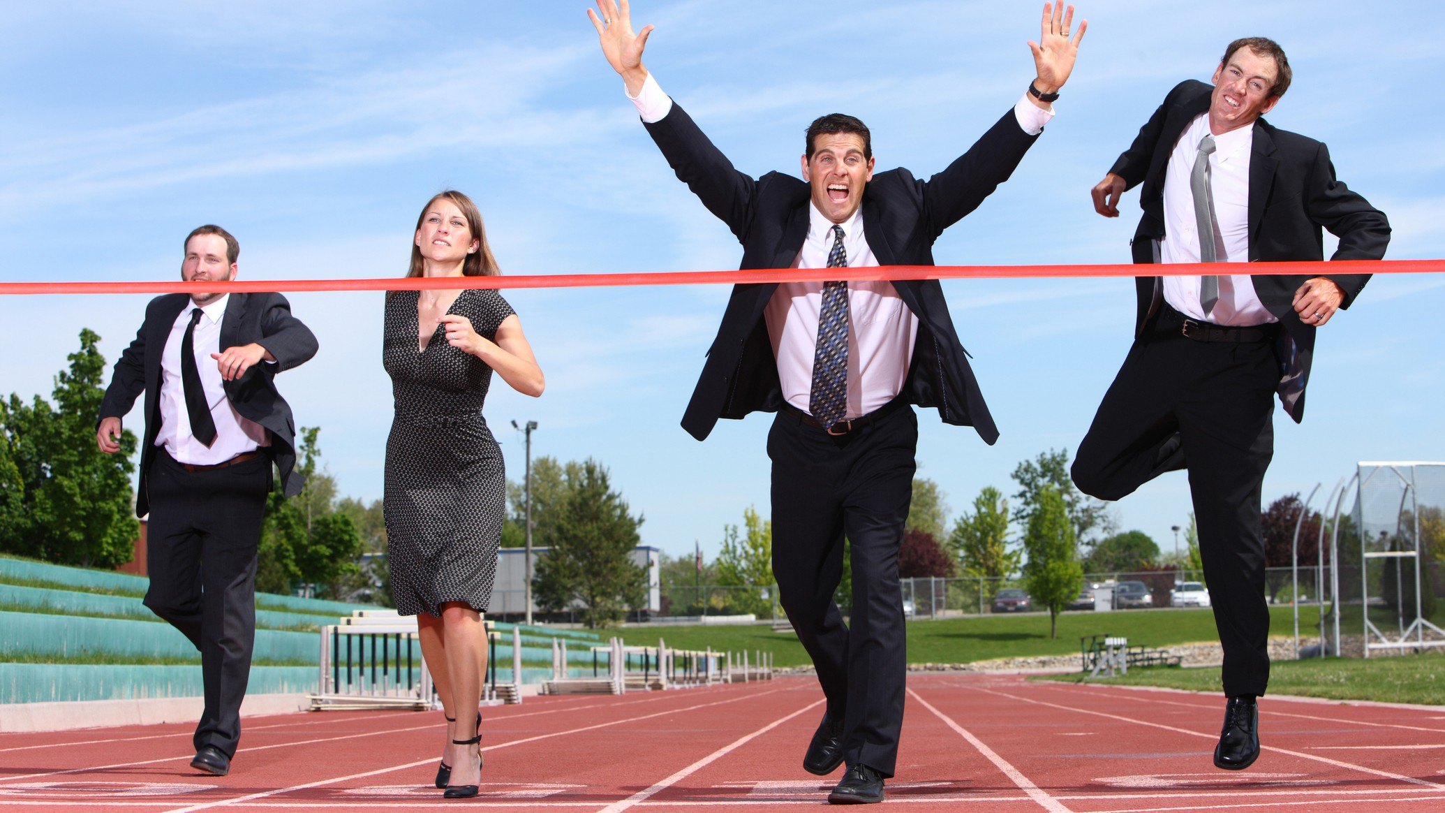 asx shares represented by bankers approaching finish line in a race