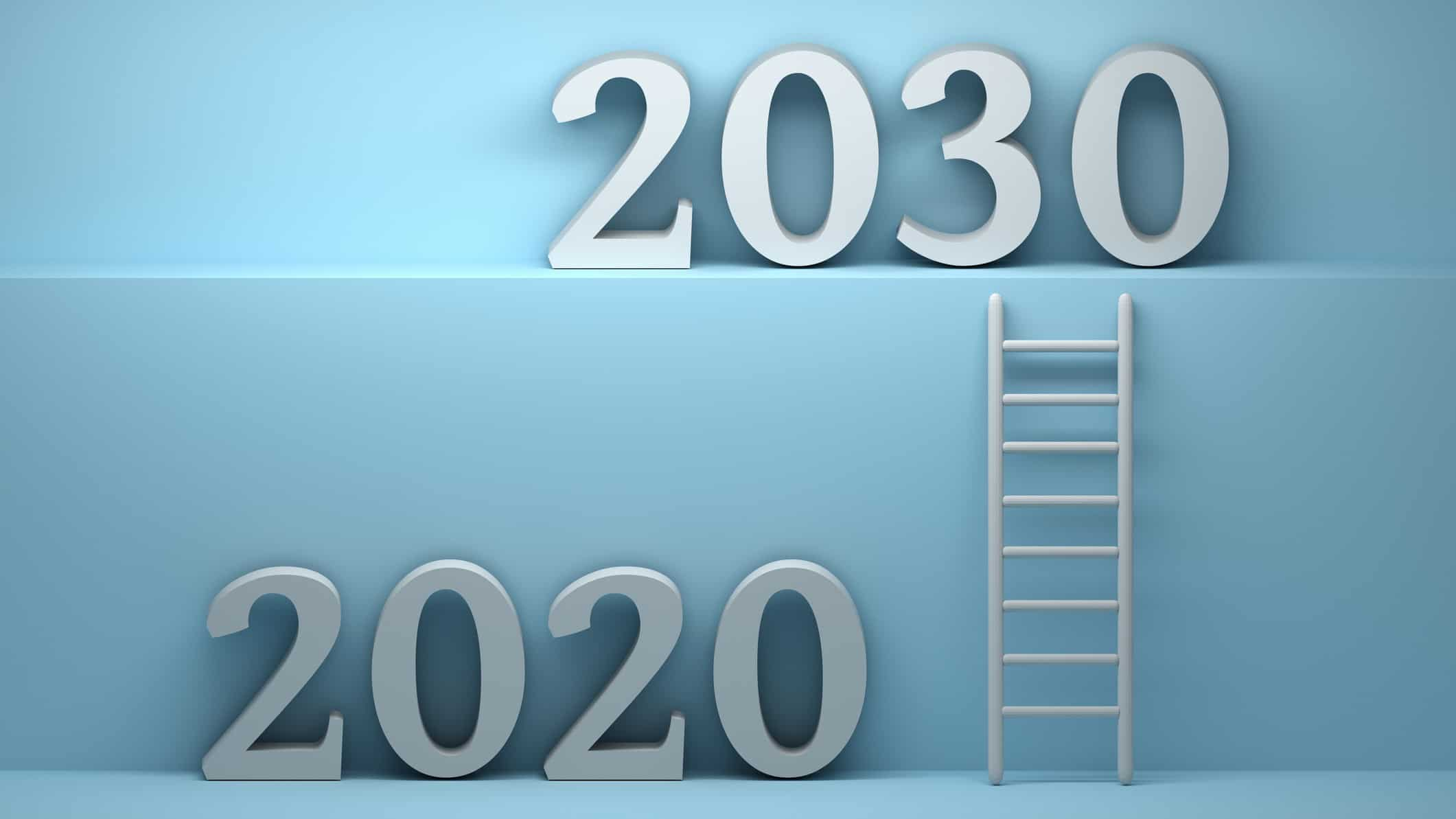 ladder going between 2020 and 2030