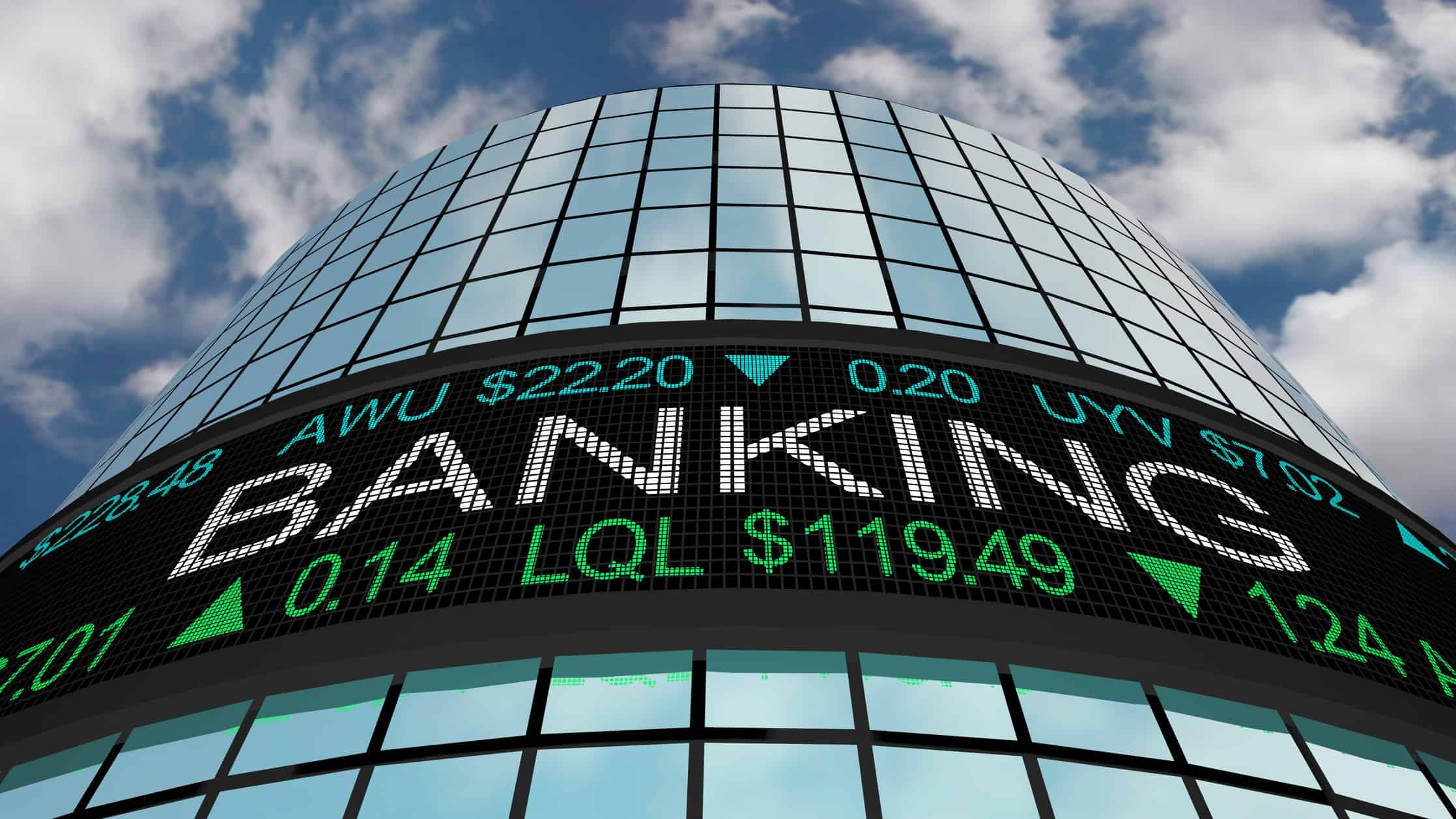 city building with banking share prices, anz share price