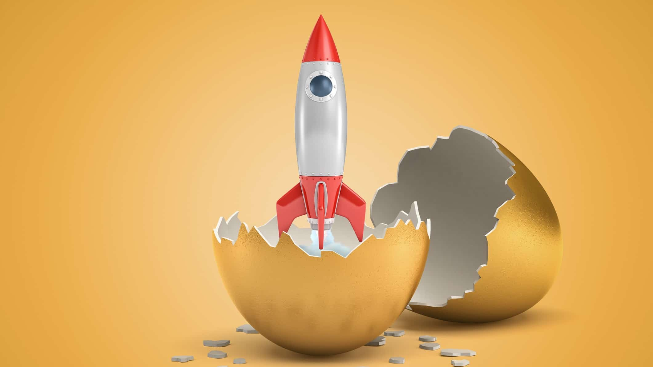 miniature rocket breaking out of golden egg representing rocketing bbx share price