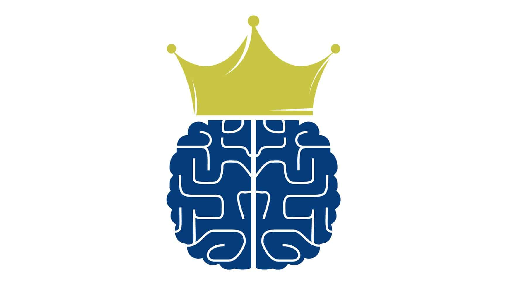 brainchip shares represented by illustration of a blue brain wearing a gold crown