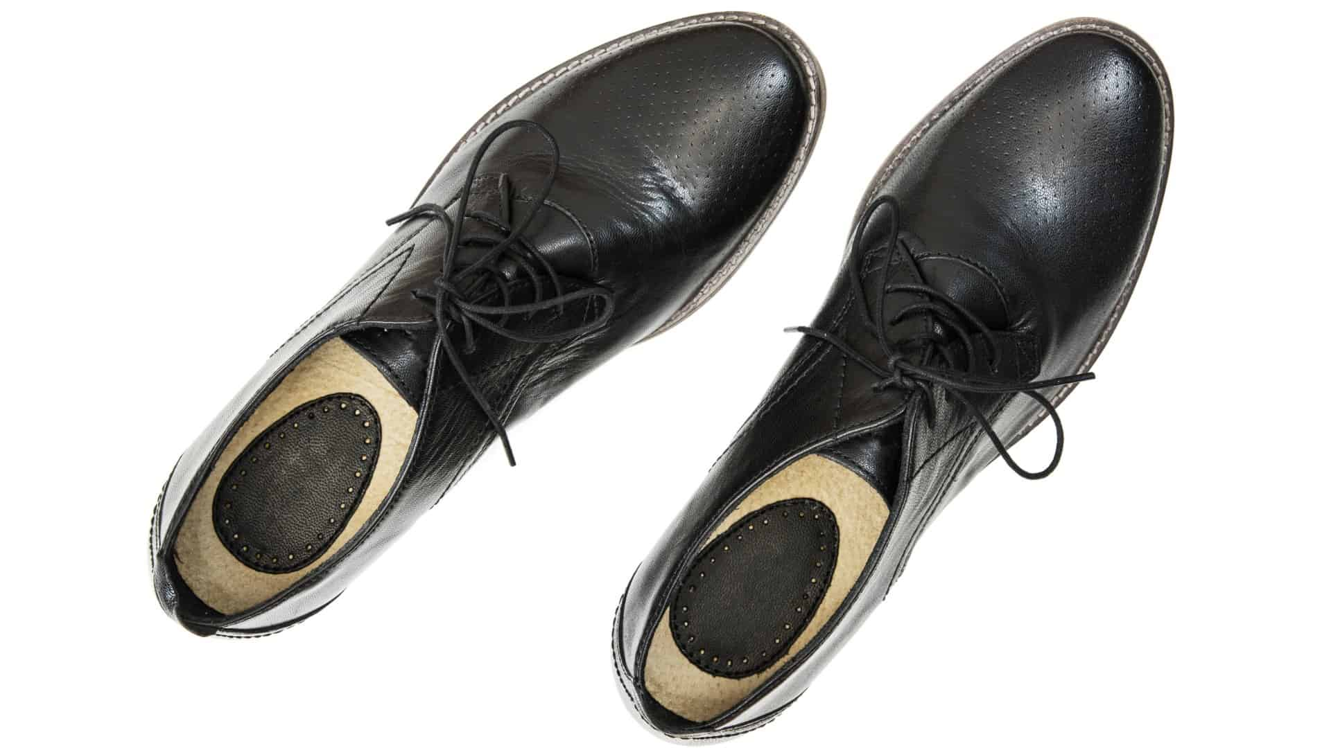 pair of men's business shoes