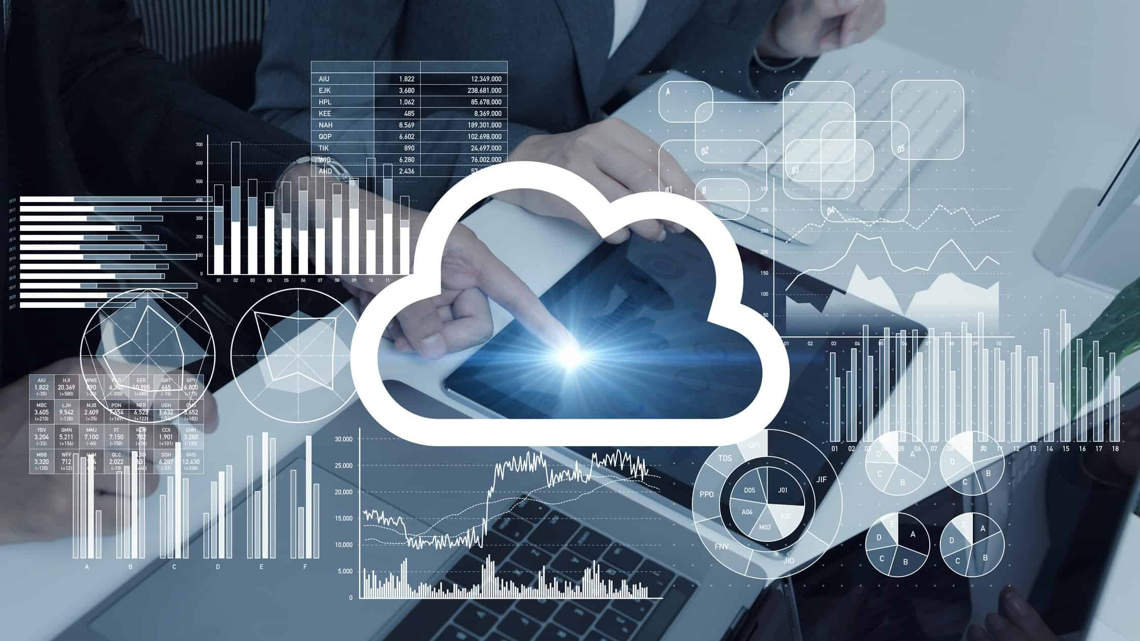 cloud computing graphic symbols