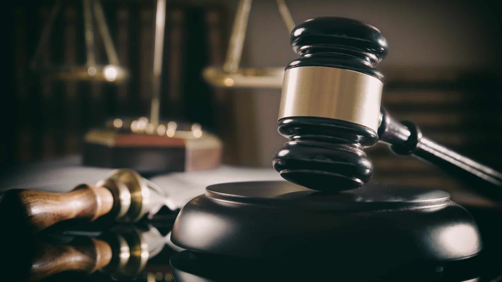 a court gavel and scales of justice