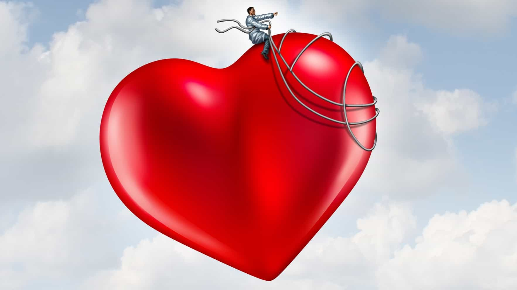 soaring hydrix share price represented by doctor riding on top of heart high up in the clouds