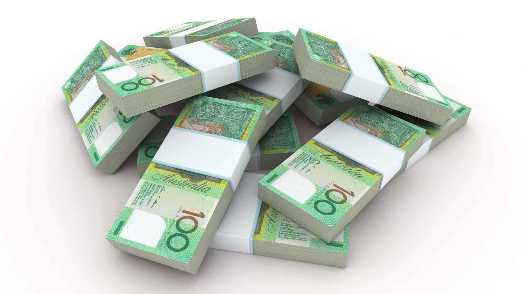 janus henderson share price increasing represented by pile of australian one hundred dollar notes