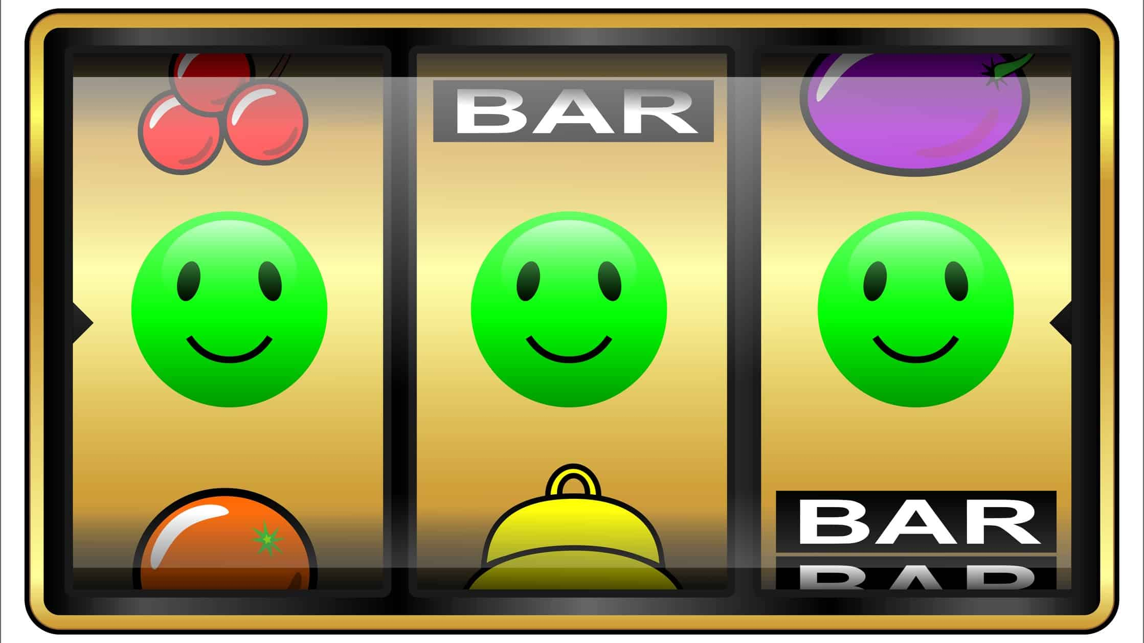 rising leisure asx share price represented by three happy faces on slot machine