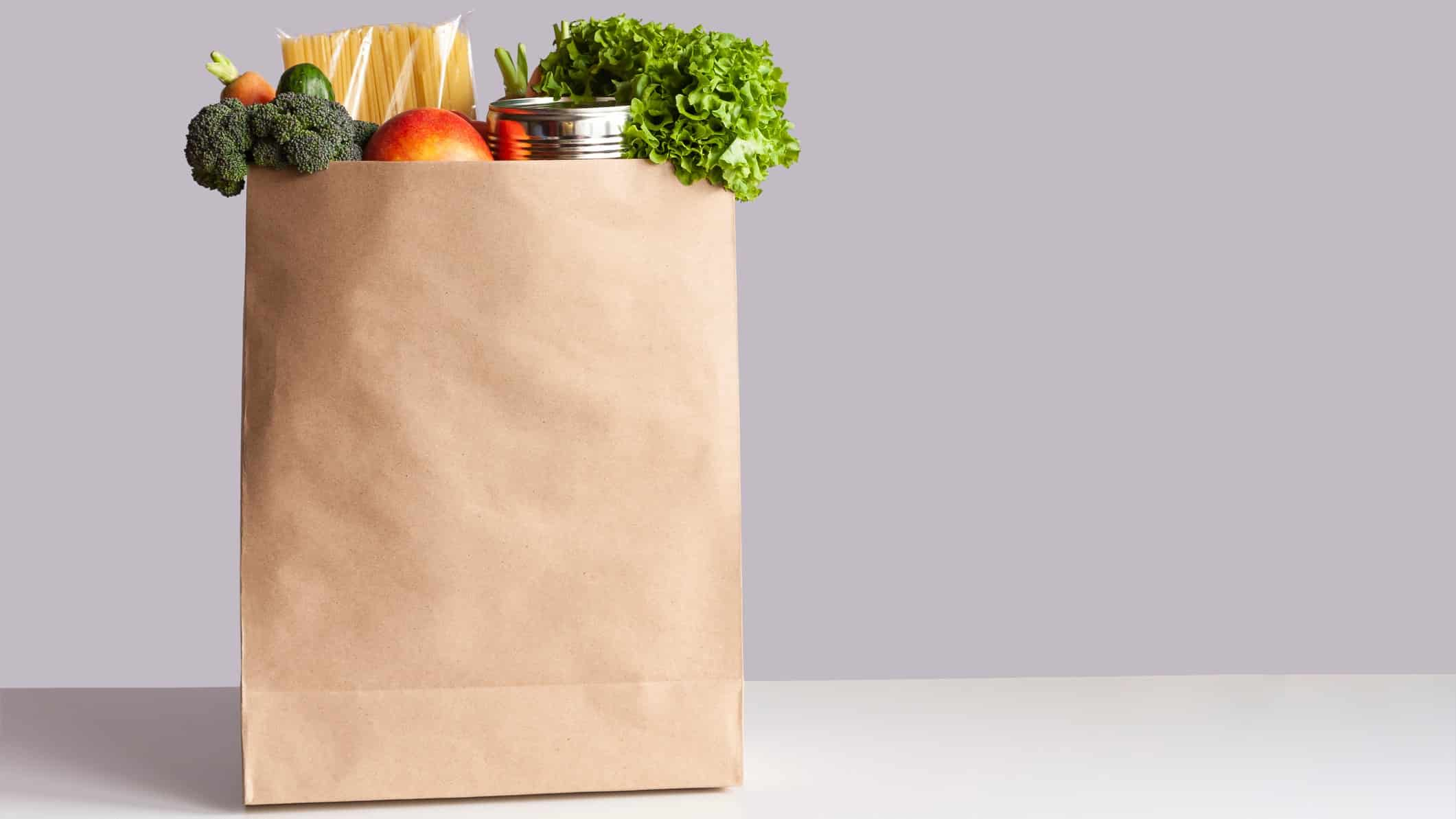 paper bag filled with fresh food representing marley spoon share price