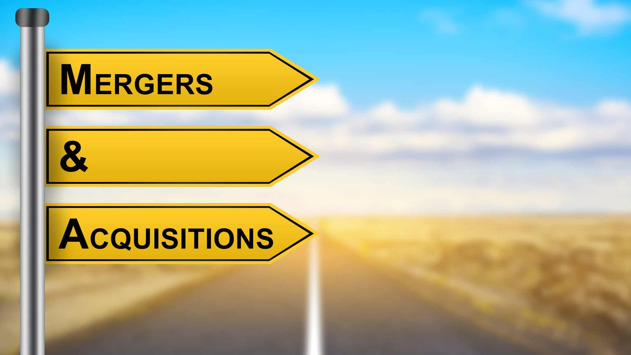 asx share price movements represented by street signs stating mergers and acquisitions