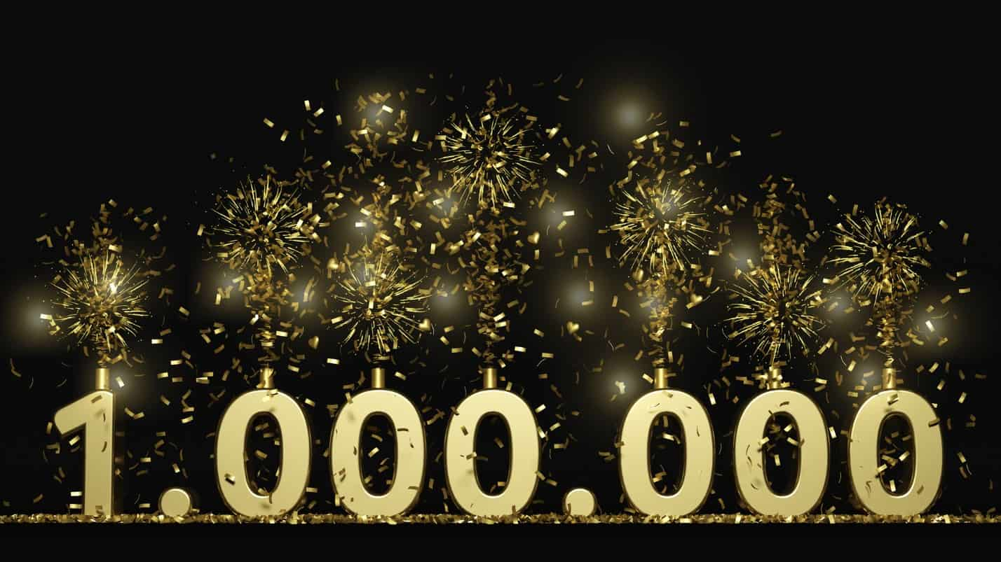 $1 million with fireworks and streamers, millionaire, ASX shares