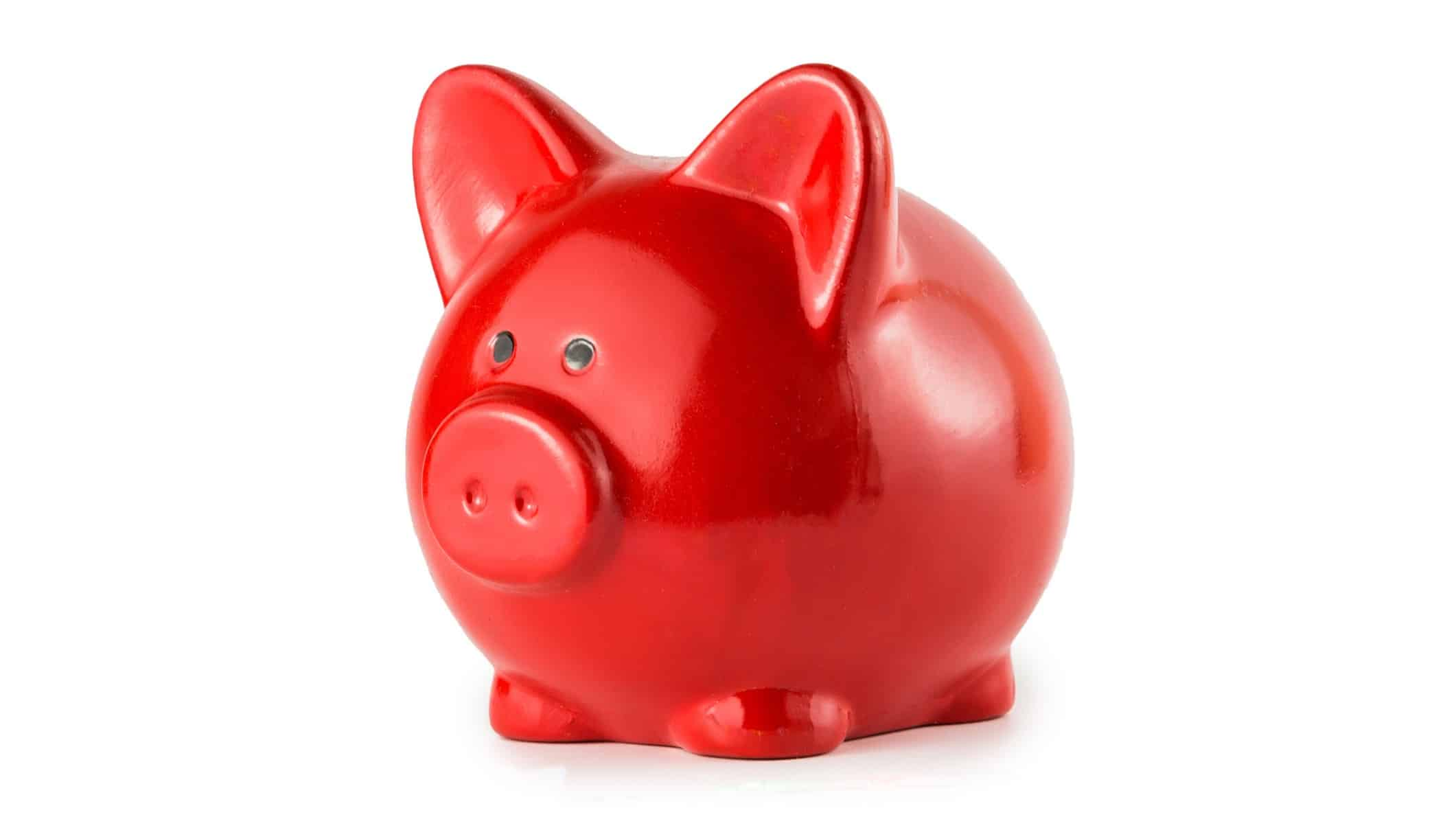 nab share price represented by red piggy bank