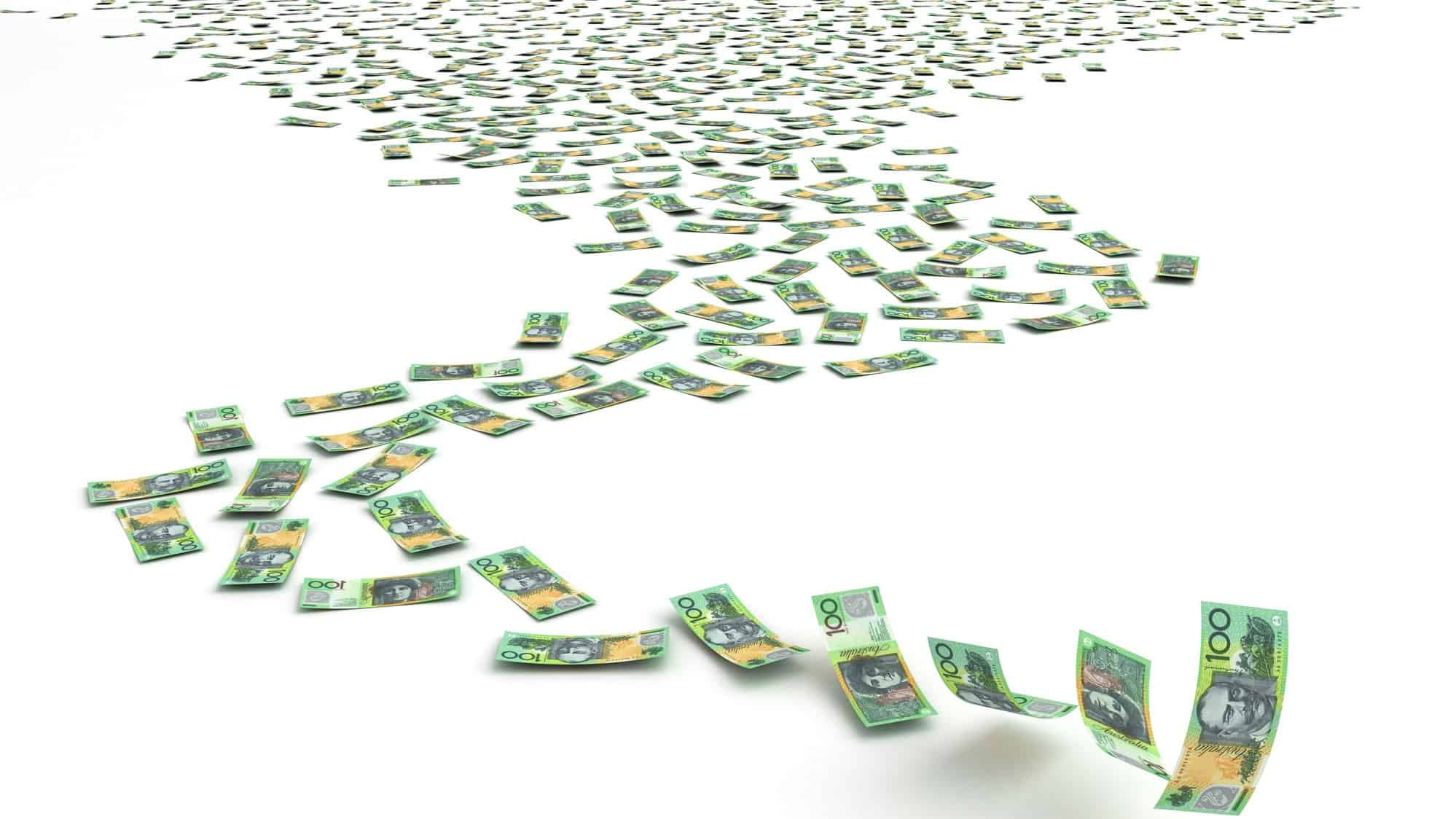 $100 notes multiplying into the future representing asx growth shares
