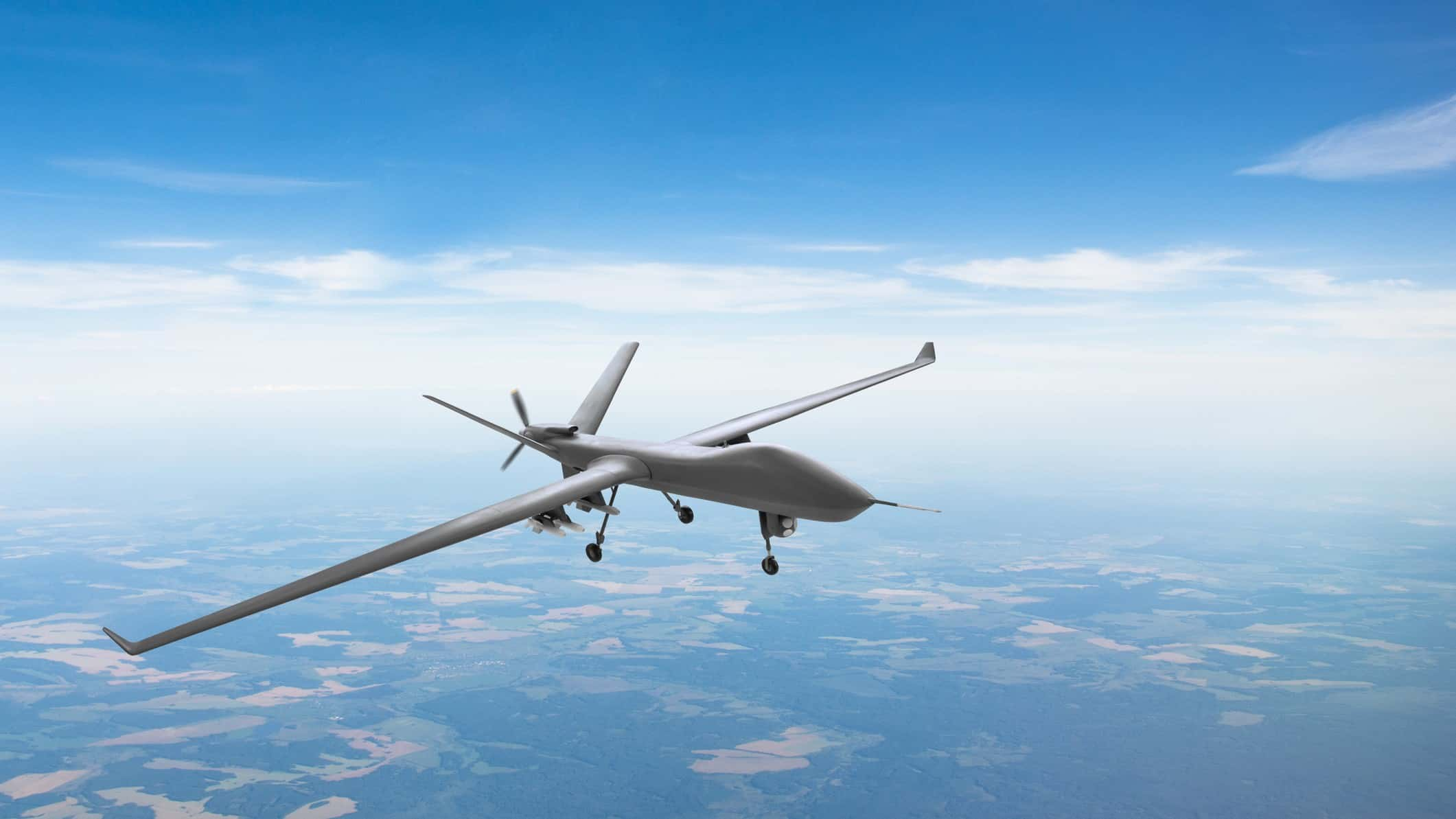 drone flying against backdrop of blue sky representing drone asx share price
