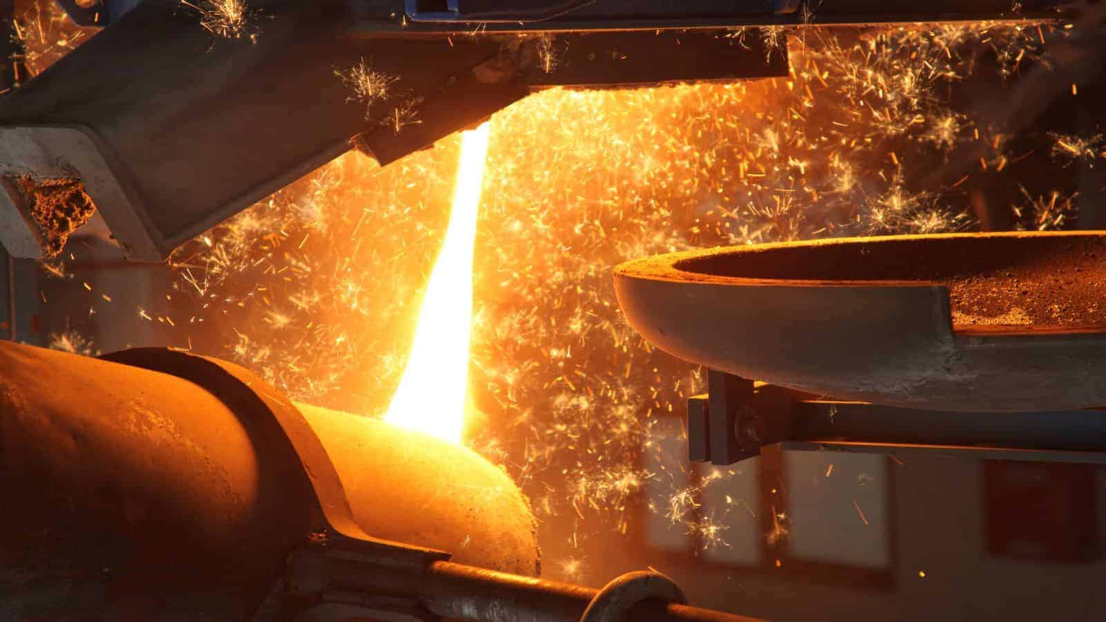 Liquid Molten Steel Industry iron ore price ASX