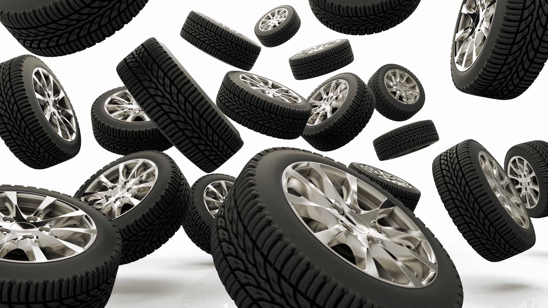 tyres and wheels bouncing about, indicating a positive share price