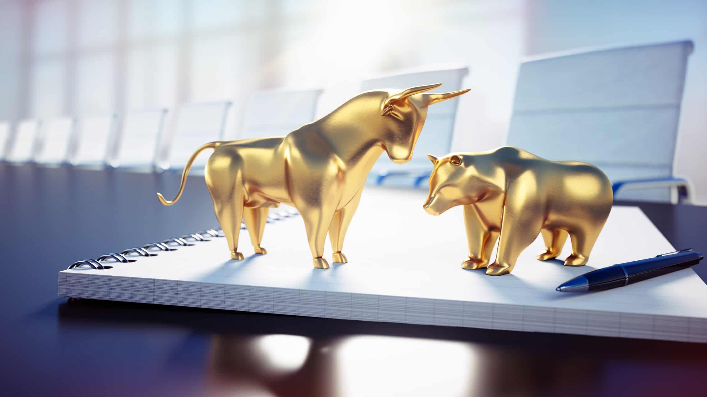 Gold bear and bull share market
