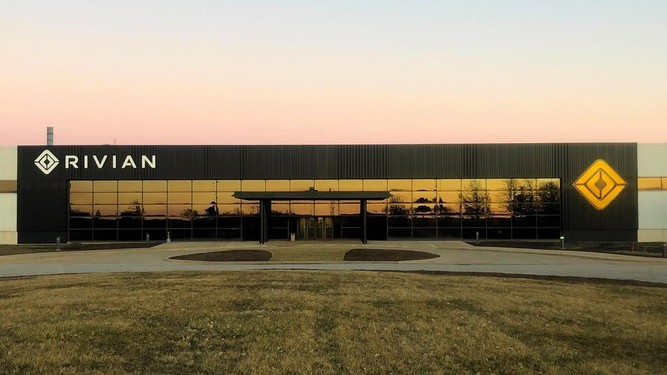 Rivian's Illinois factory.