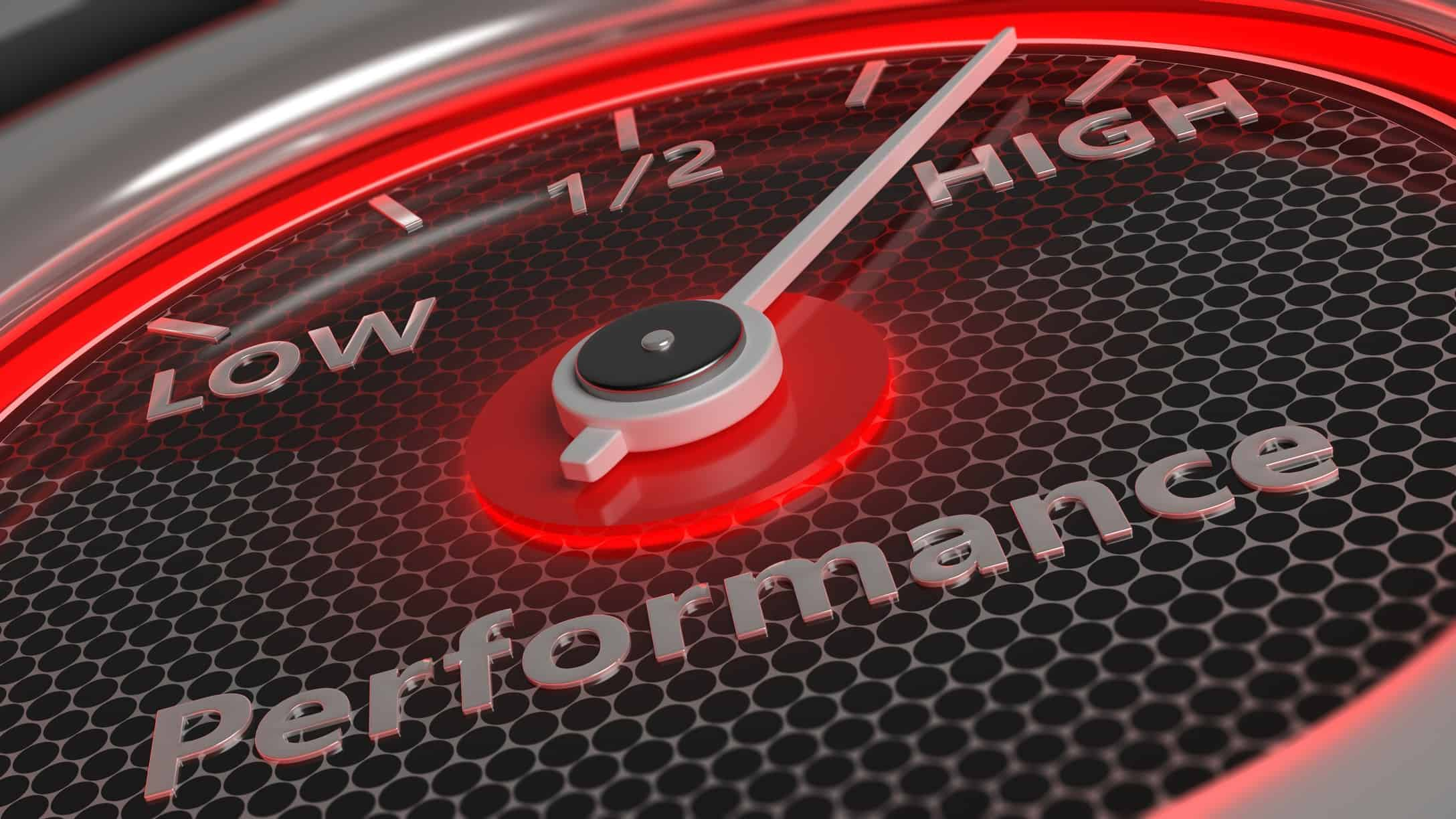 speedometer depicting high performance ASX miners outperform
