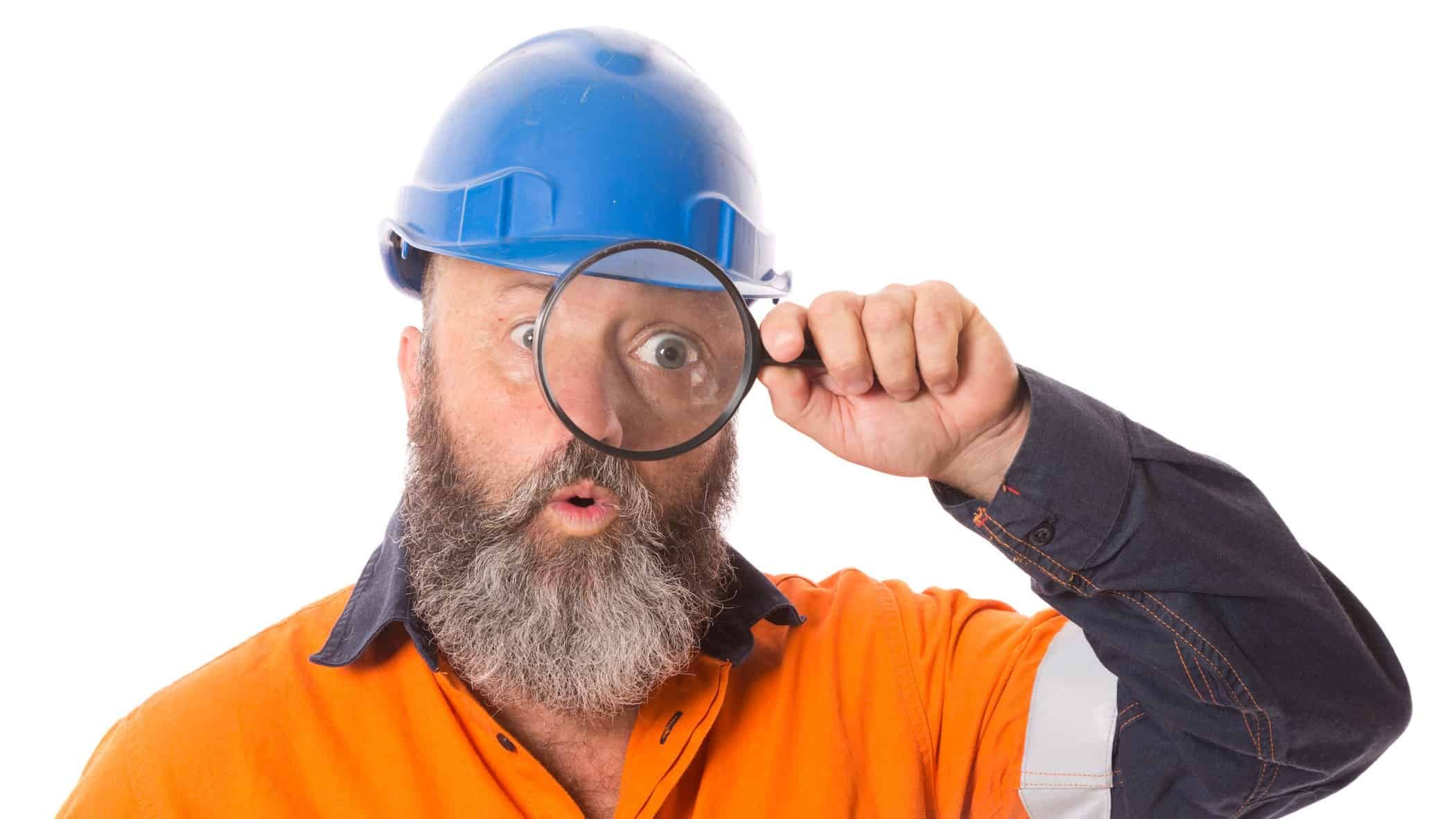 industrial asx share price on watch represented by builder looking through magnifying glass
