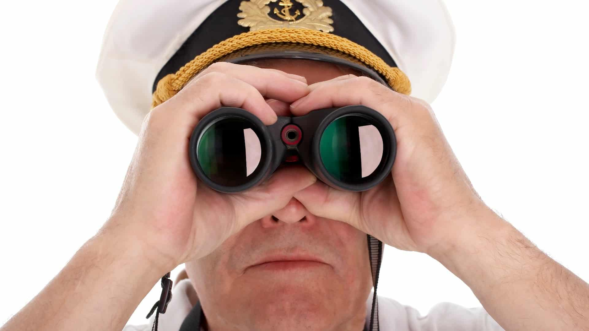 asx share price on watch represented by ship captain looking through binoculars