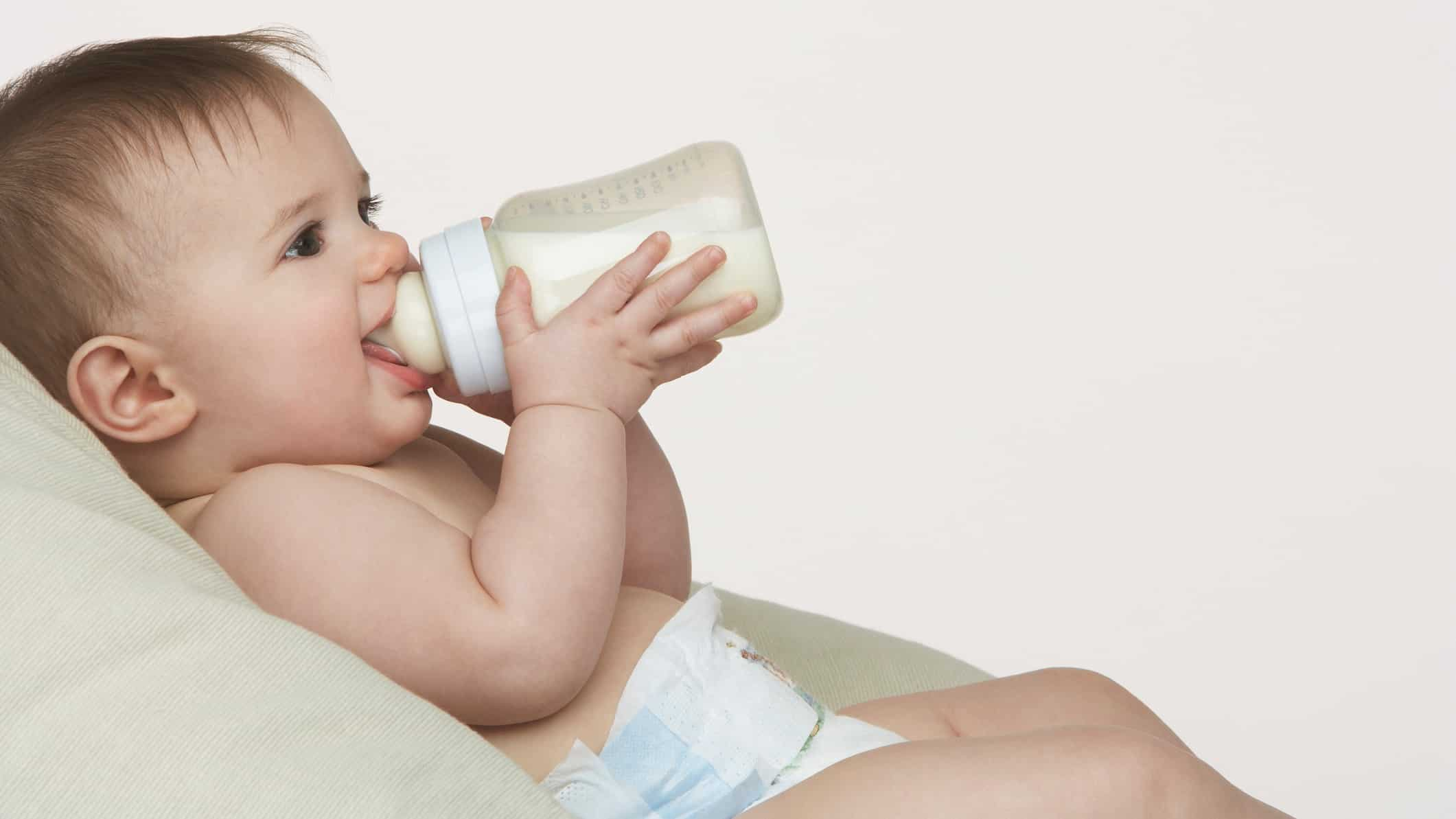 A happy baby drink milk formula, indiacting a rising share price for milk companies