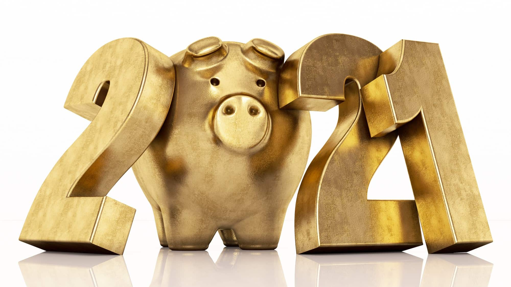 best asx shares to buy in january represented by 2021 formed with gold piggy bank