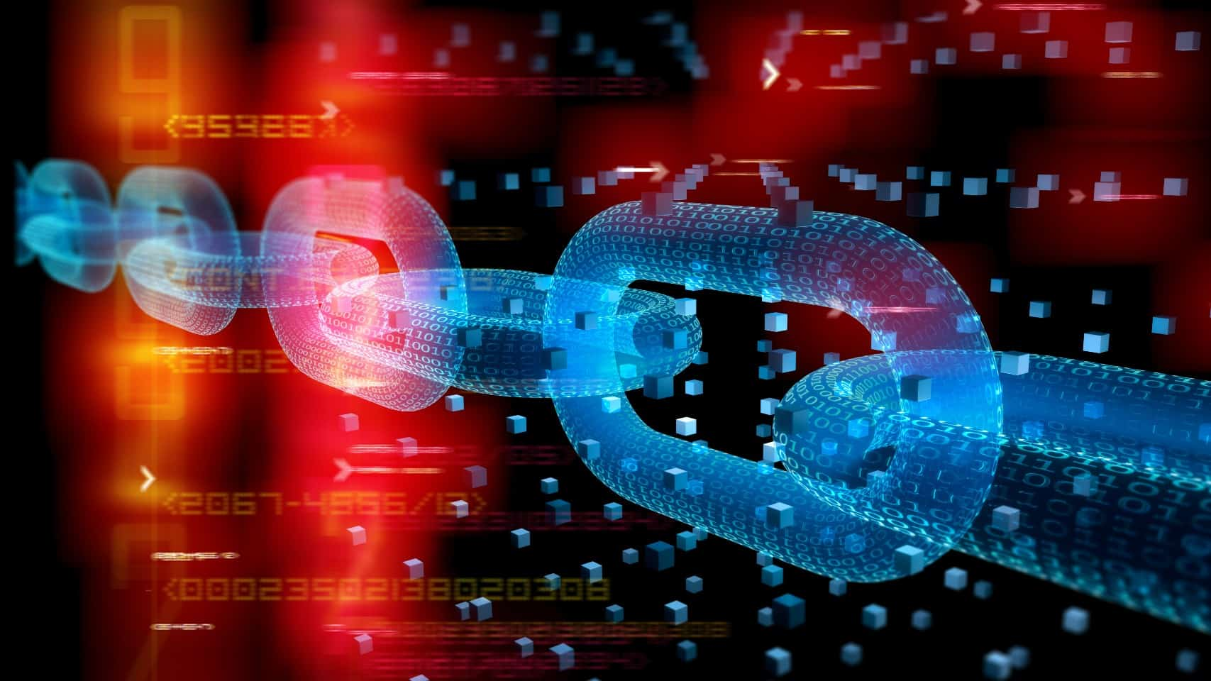 Graphic image depicting blockchain technology
