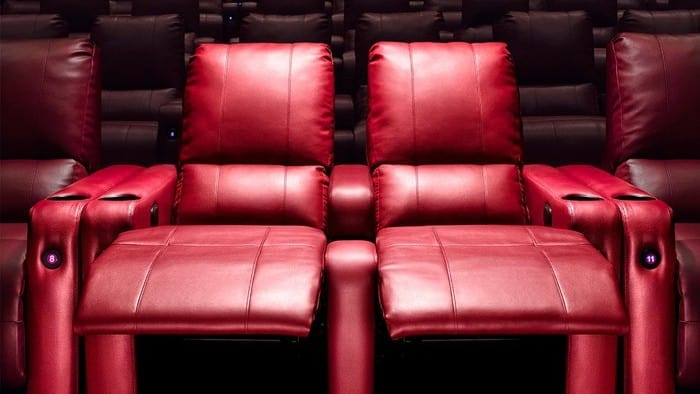 Red leather cinema seats
