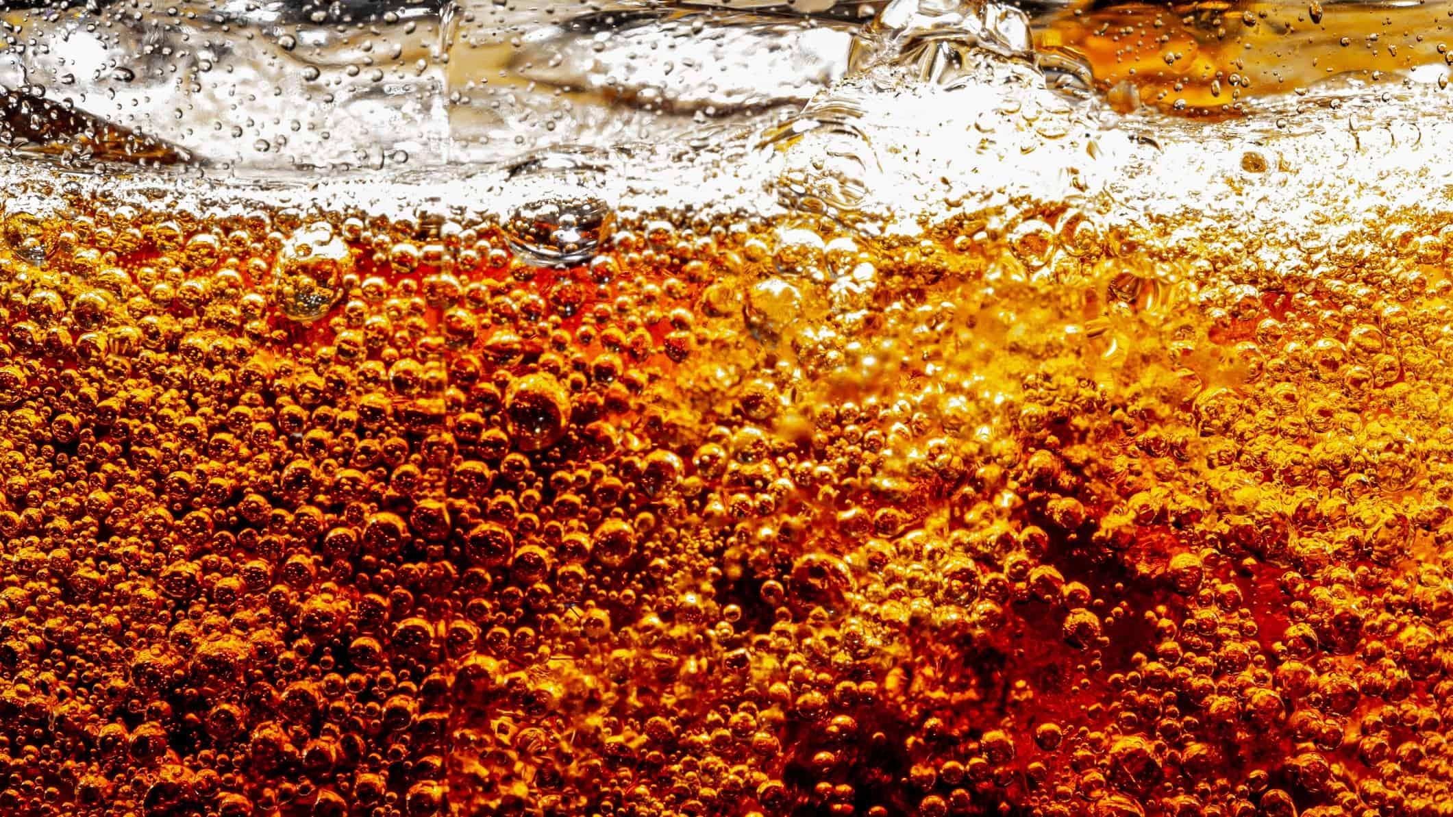 close up shot of glass of coca-cola