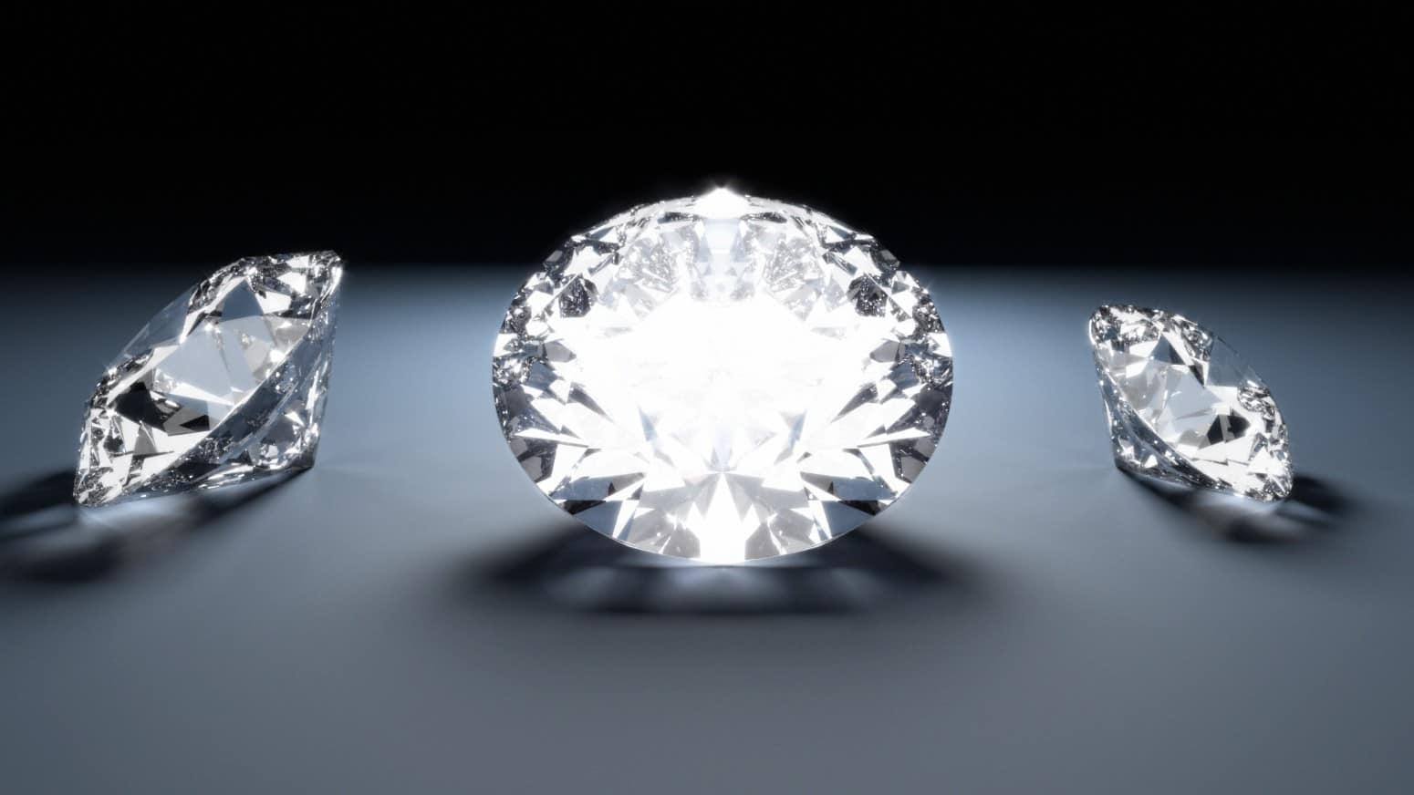 Three diamonds in the spotlight