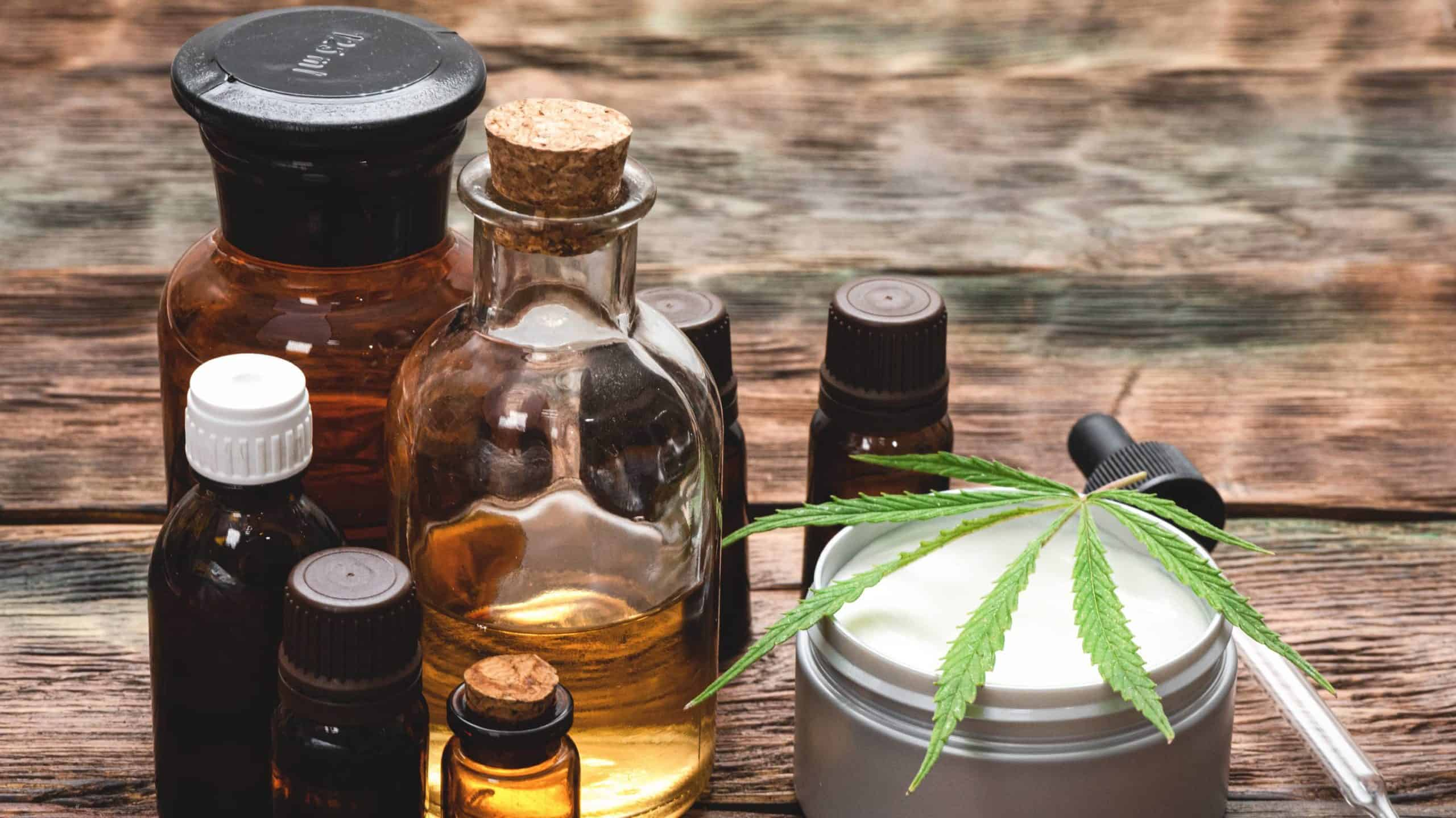 range of hemp oil and skin products representing elixinol share price