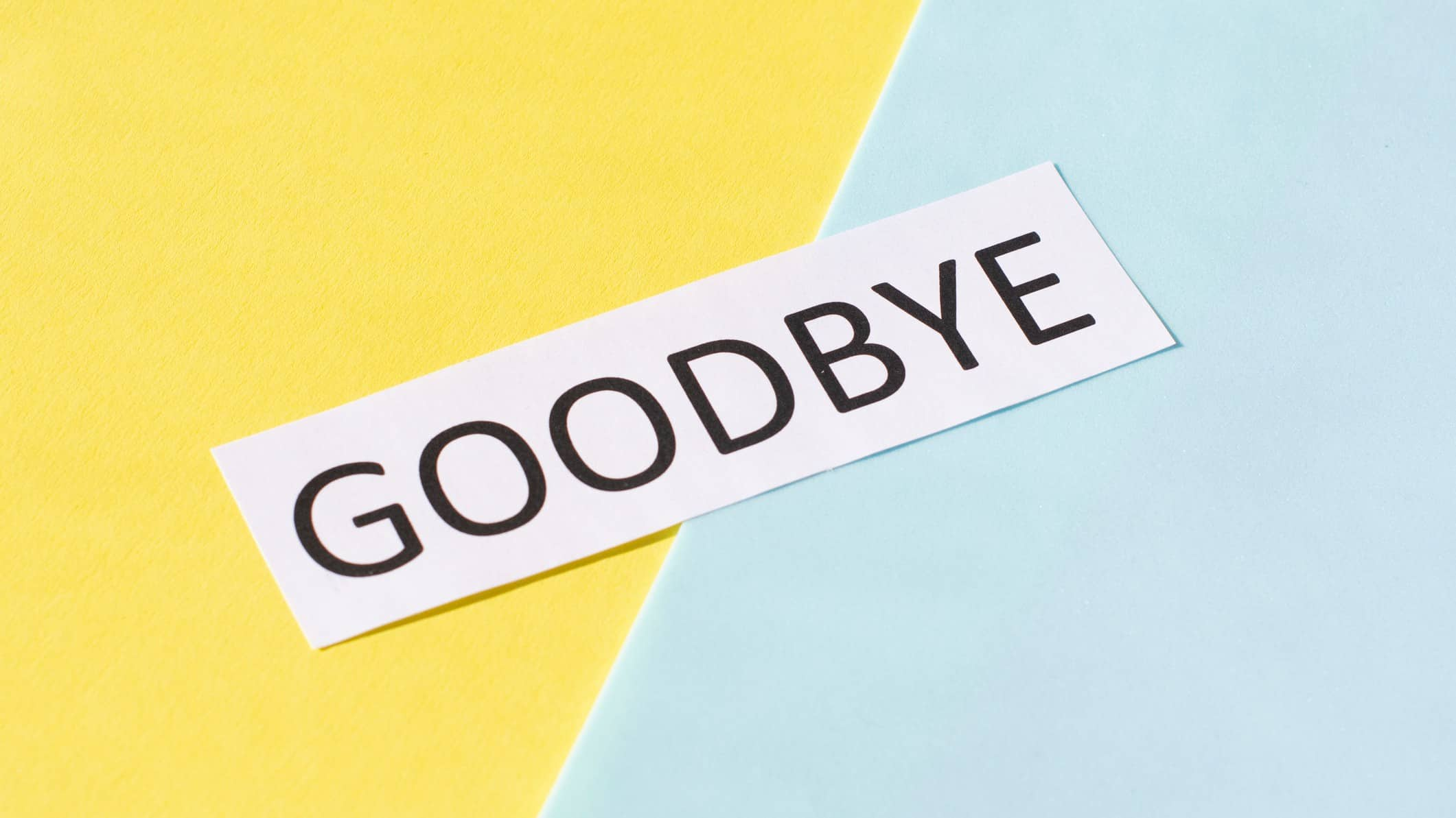 asx shares delisting represented by goodbye sign