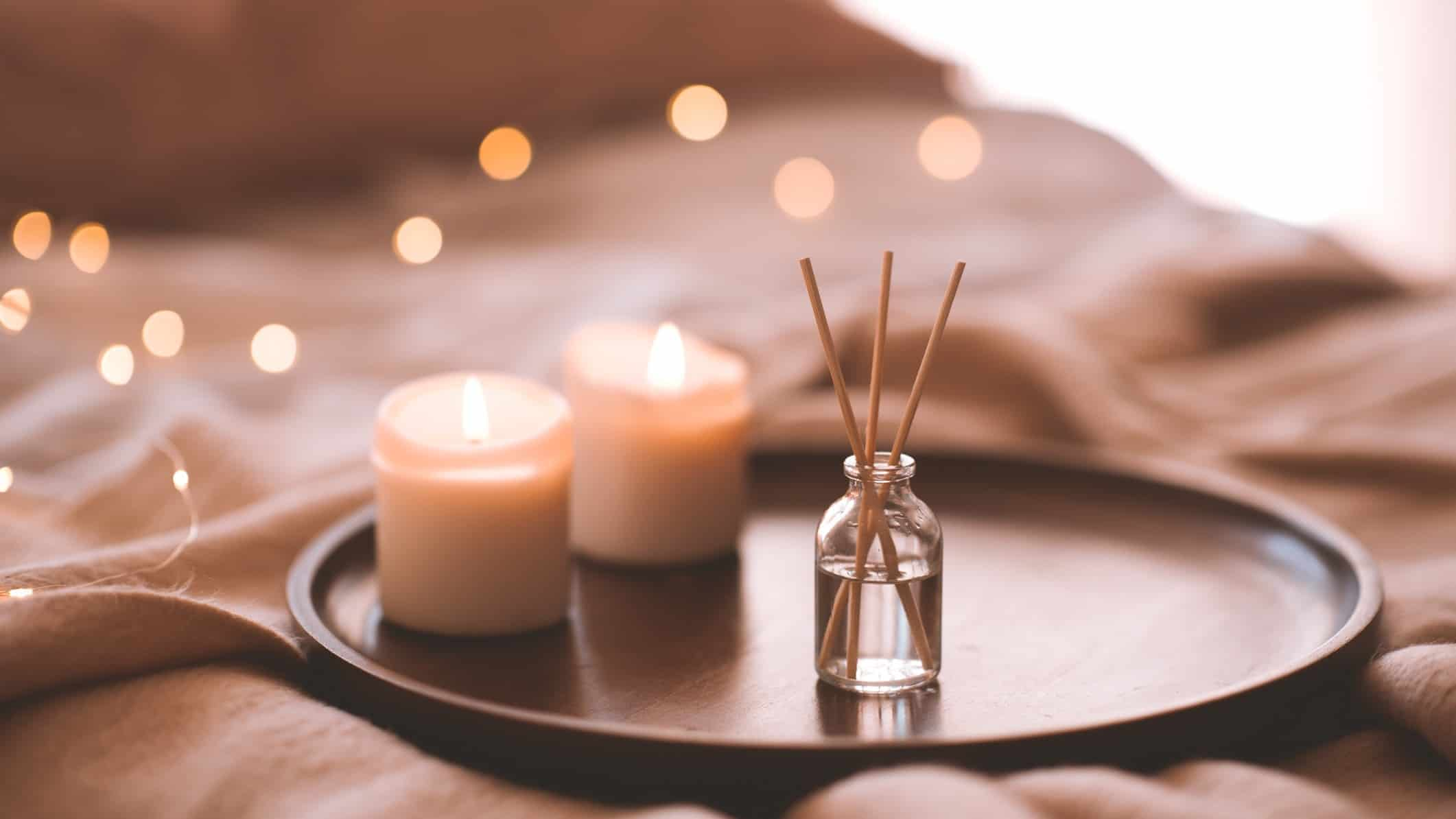 homewares asx share price represented by candles and reed diffuser on tray