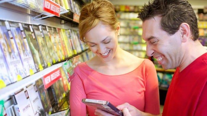 mana and women at a gaming store