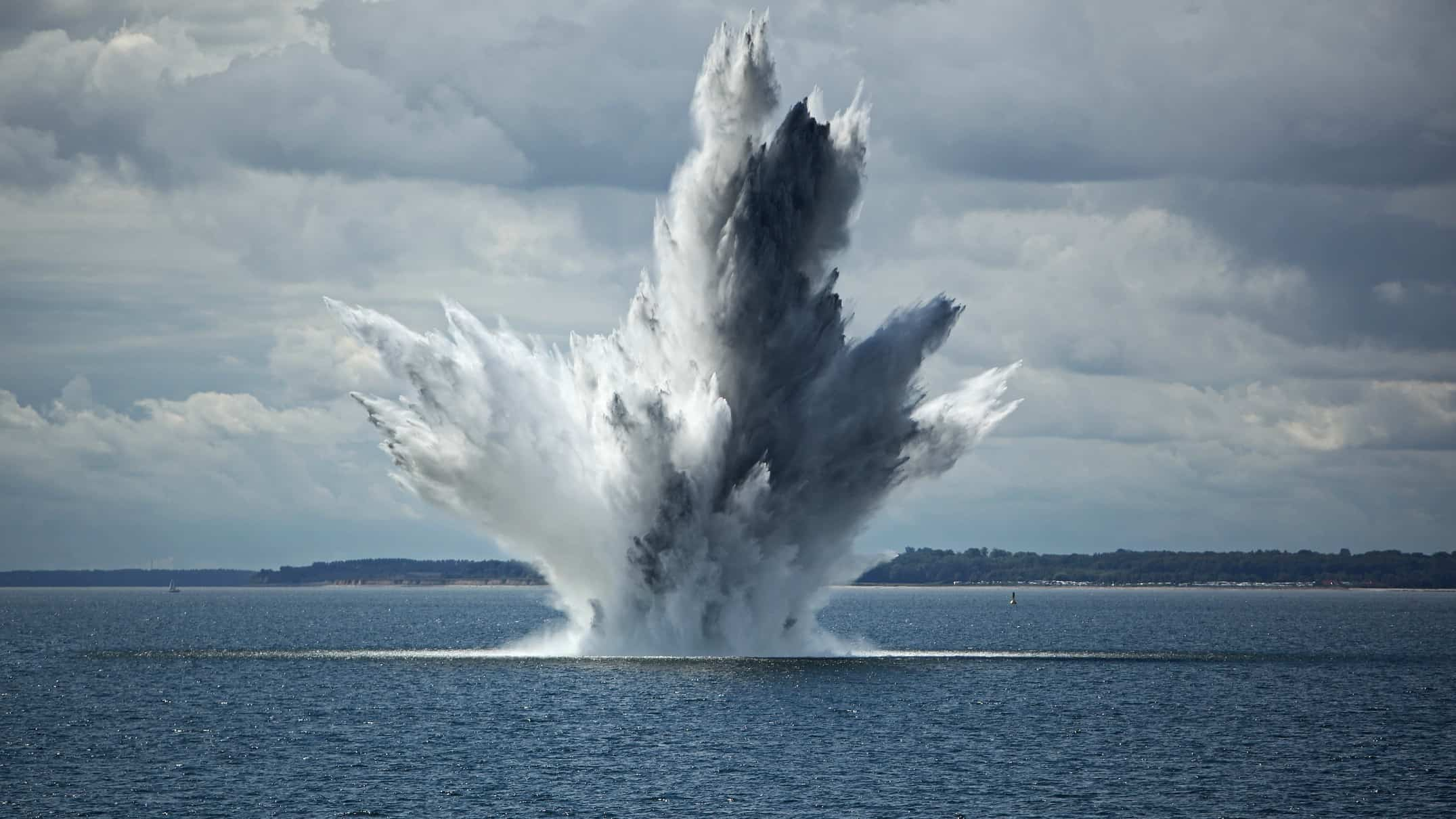 surging asx share price represented by explosion coming out of lake