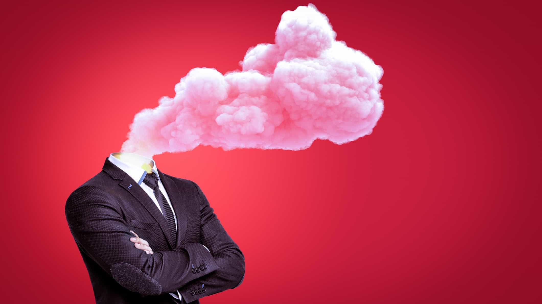 headless business man with smoke pouring from neck representing interest rate hike impact on ASX shares