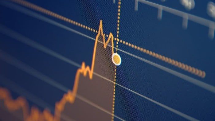 asx share price rise represented by rising digital stock chart