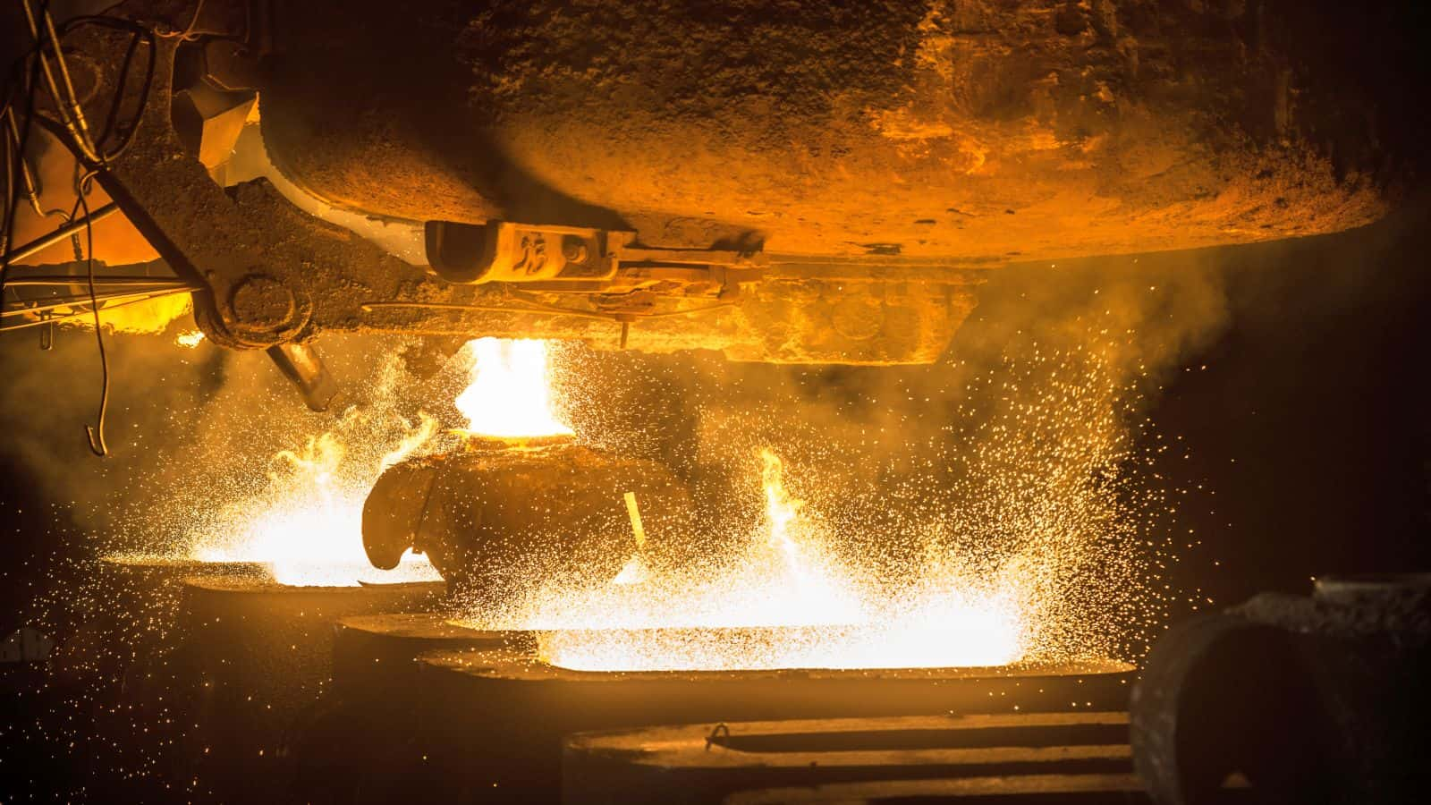 Record steel price ASX shares Tank pours the liquid steel in the molds
