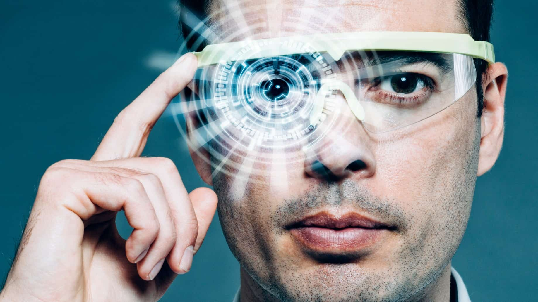tech asx share price represented by man wearing smart glasses