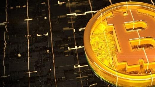 yellow bitcoin symbol